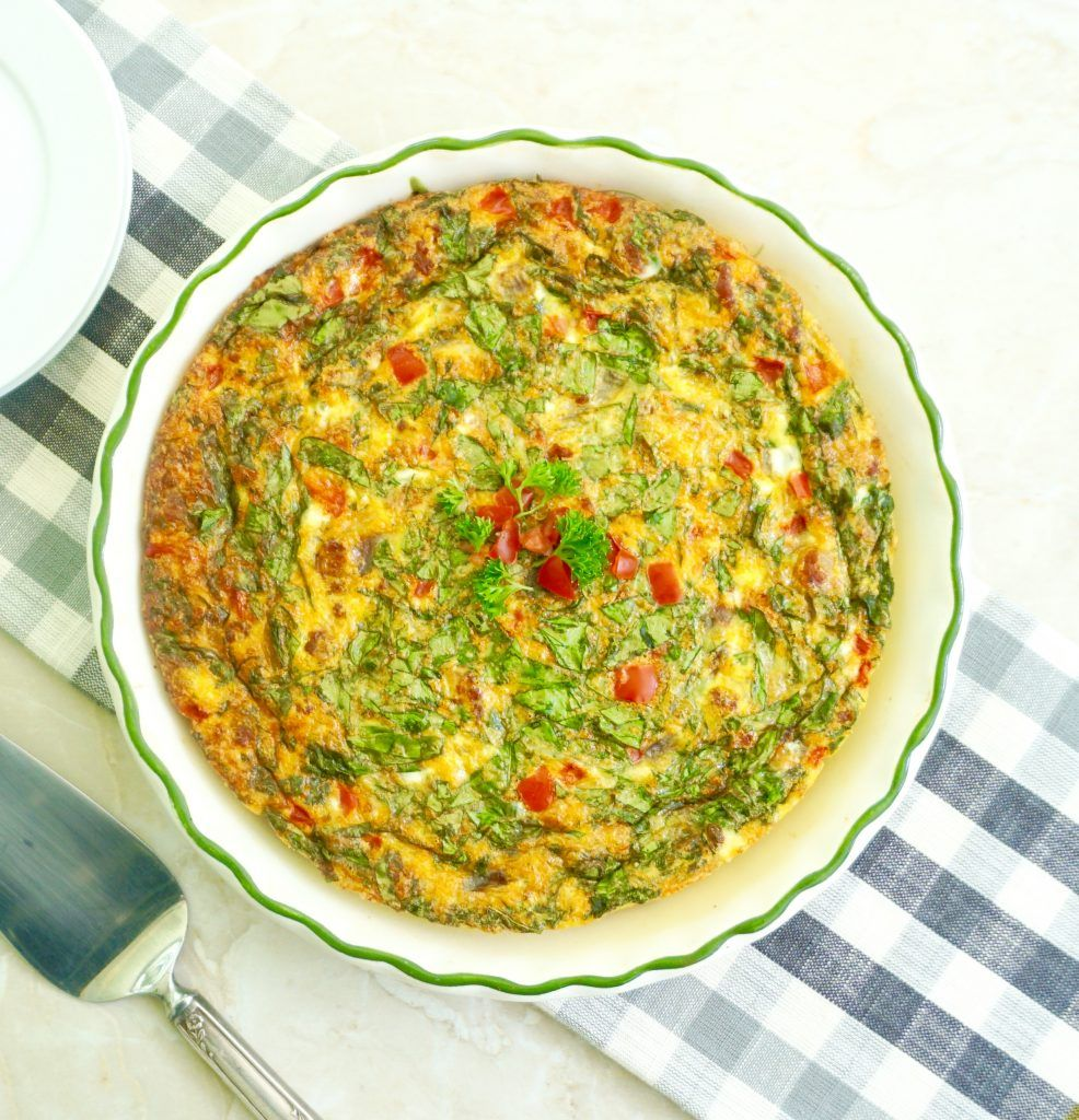 Chorizo Frittata Is Eggs Baked With Sausage And Veggies Recipe Chorizo Frittata Frittata Recipes Frittata