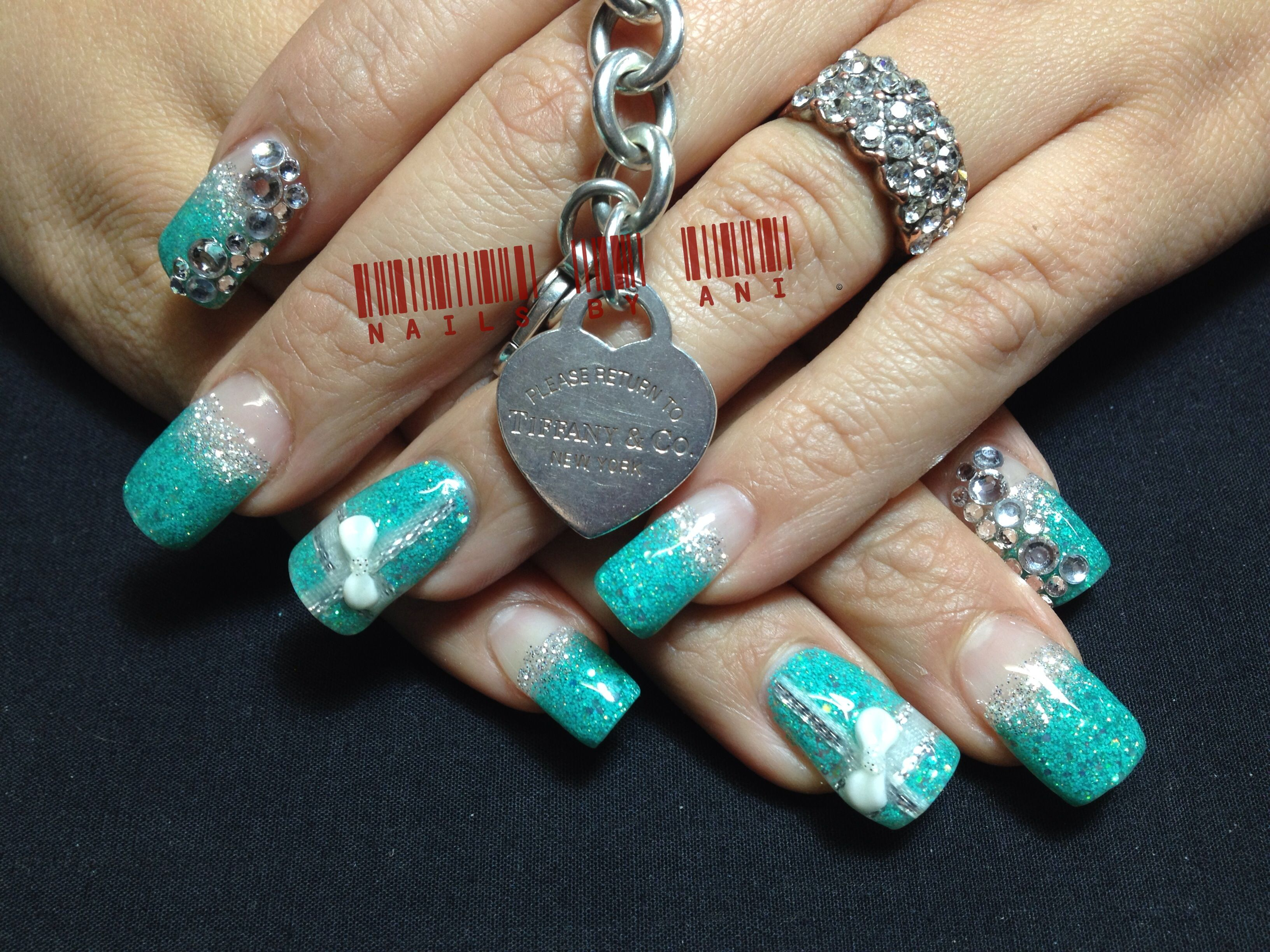 Tiffany And Co Inspired Acrylic Nail Designs Pinterest Acrylic