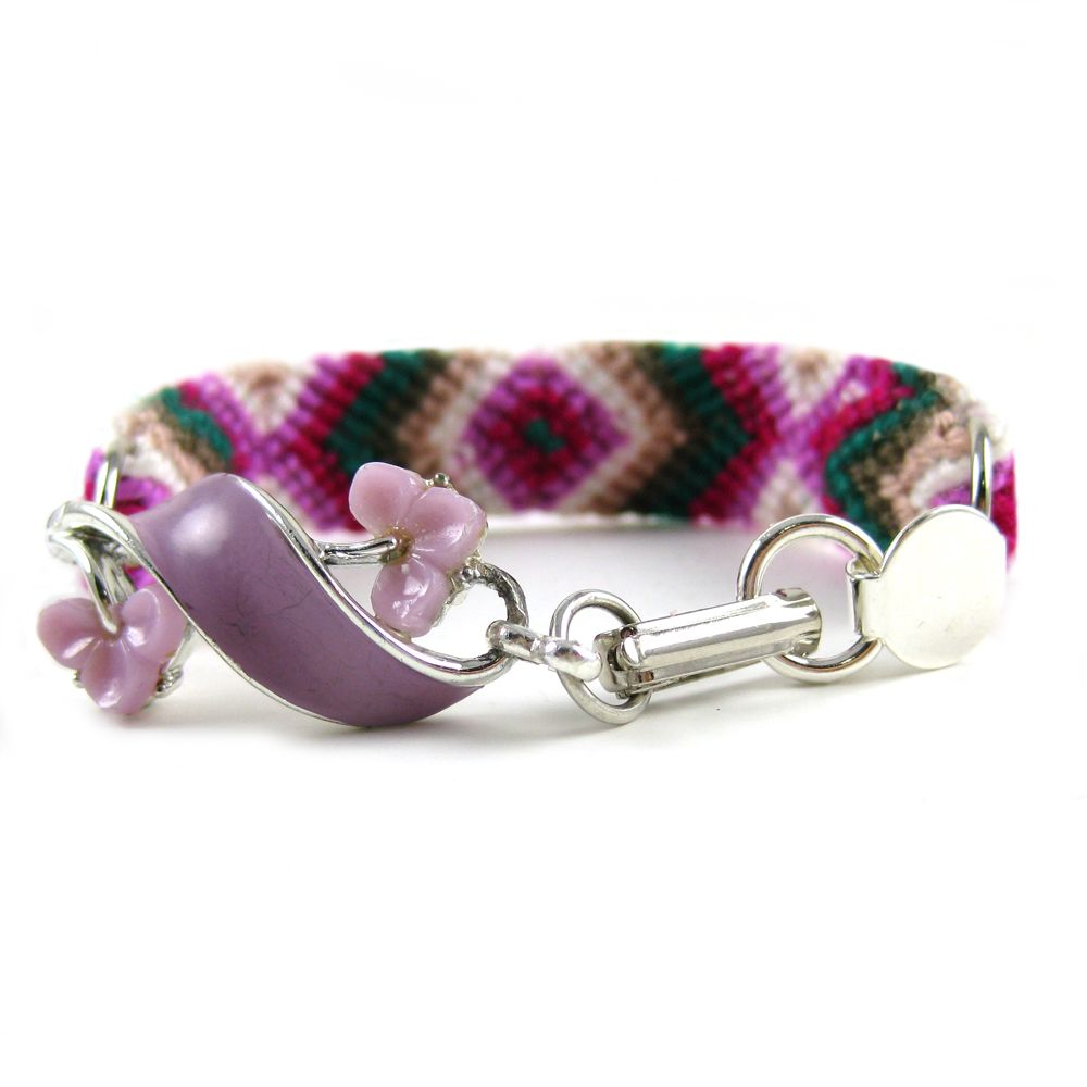 Friendship Bracelets! With jewellery! I love it! Midnight Rose Rendezvous by Frieda and Nellie