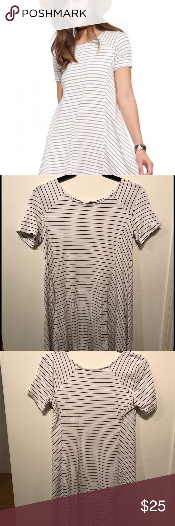 Lush White With Black Stripes Dress My Posh Picks Striped Dress