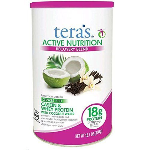 Teras Whey Protein Powder Casein And Whey Active Nutrition Recovery Blend Bourbon Vanilla 125 Oz Organic Protein Whey Protein Powder Whey Protein