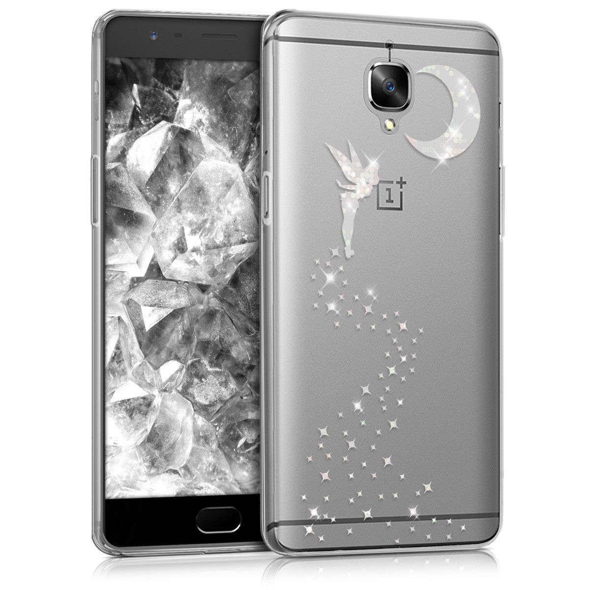 more photos ffb5c 4c9b0 $5.9 - Cover For Oneplus 3 3T Case Glittery Fairy Silver Cover ...