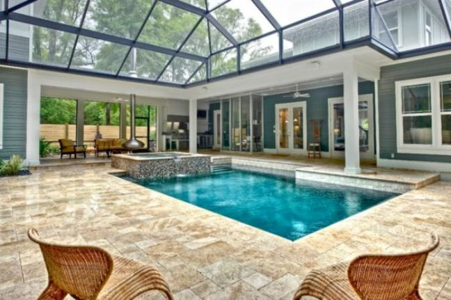 indoor pools for homes | indoor pool with glass ceiling2 beautiful
