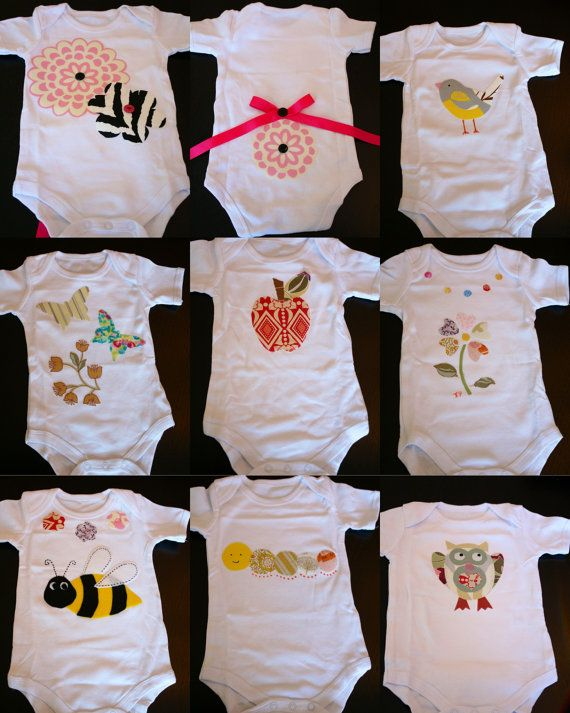 DIY Baby Shower Make Your Own ONESIE Party Pack 20 Baby Themed - onesie template