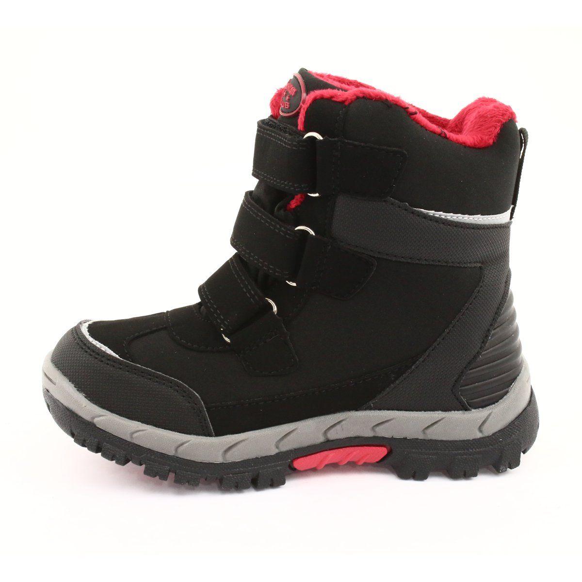Kozaczki Softshell Z Membrana Czarne American Club Hl20 Czerwone Boots Childrens Boots Winter Shoes