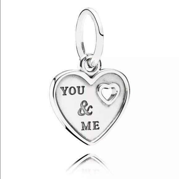 Pandora You And Me Charm Pandora You And Me I Love You