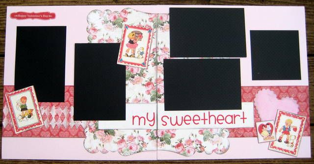 """""""My Sweetheart""""  Layout kit using """"Lovely"""" by Authentique  www.sweettoothscrapbooking.com"""