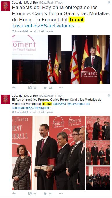 Que la Casa Reial espanyola té com a única llengua el