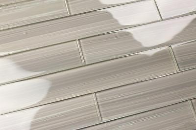 Light Gray 2x12 Hand Painted Subway Gl Tile Kitchen For Backsplash Bathroom