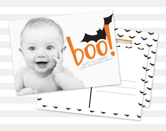 #halloween #hallweencard #photocard #invite #invitation #boo #halloweeninvite #etsy #etsylove #paperheartprints