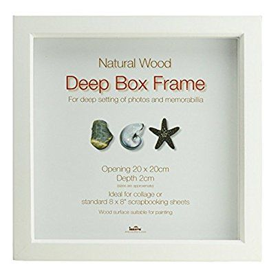 Innova Editions 20 x 20 cm/ 8 x 8-inch Box Frame, White | Home ...