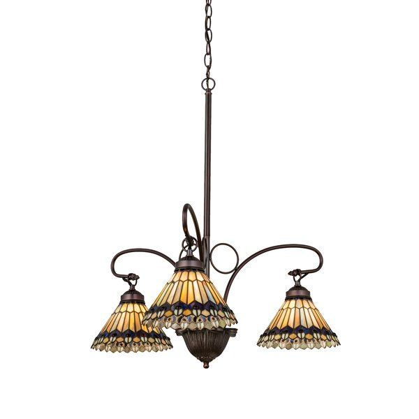 Youll love the tiffany jeweled peacock 3 light shaded chandelier at wayfair great deals on all lighting products with free shipping on most stuf