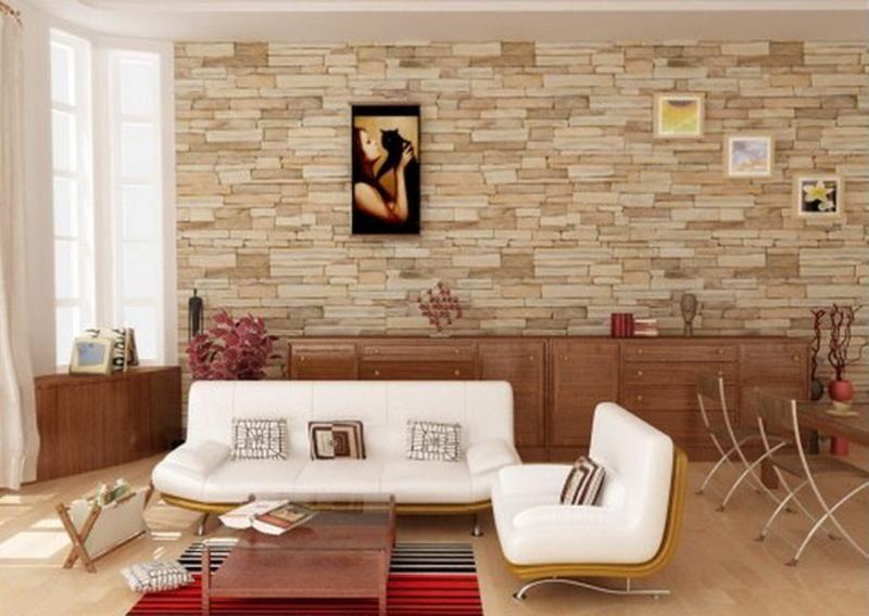 Decorative Wall Tiles For Living Room Magnificent 13 Superbes Salons Avec Des Murs En Pierres Naturelles  Stone Design Inspiration