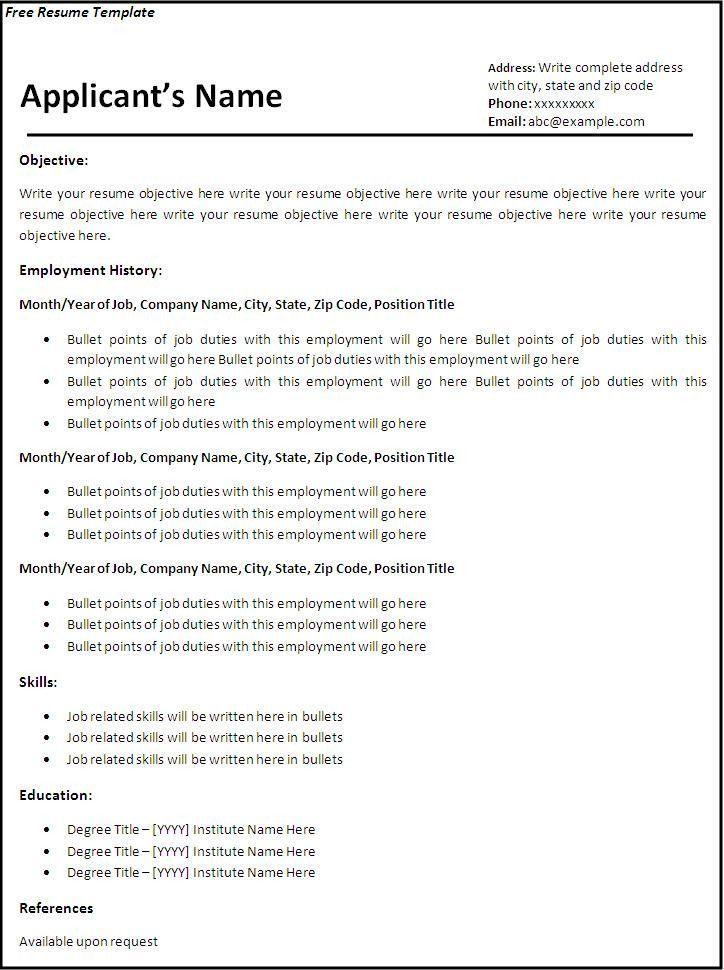 Resume Examples Printable examples printable resume