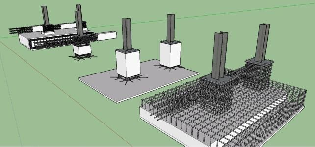 detalle grafico cimentacion aislada skpsketchup casa dise o pinterest sous sols et d co. Black Bedroom Furniture Sets. Home Design Ideas
