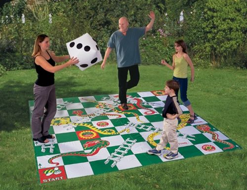 Giant Snakes And Ladders Game Activities W The Kids Juegos