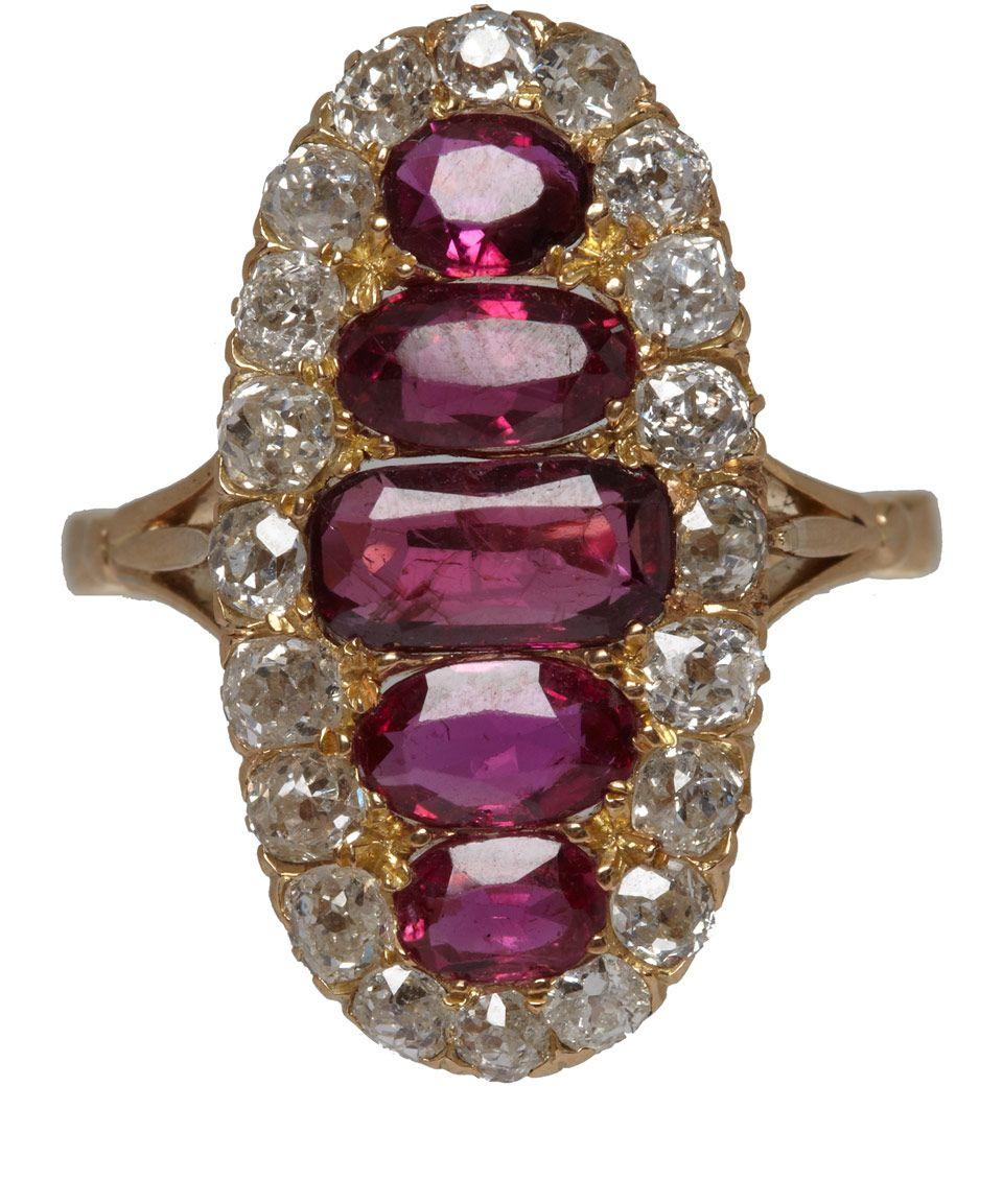 e87e0766288 Ruby and diamond ring.