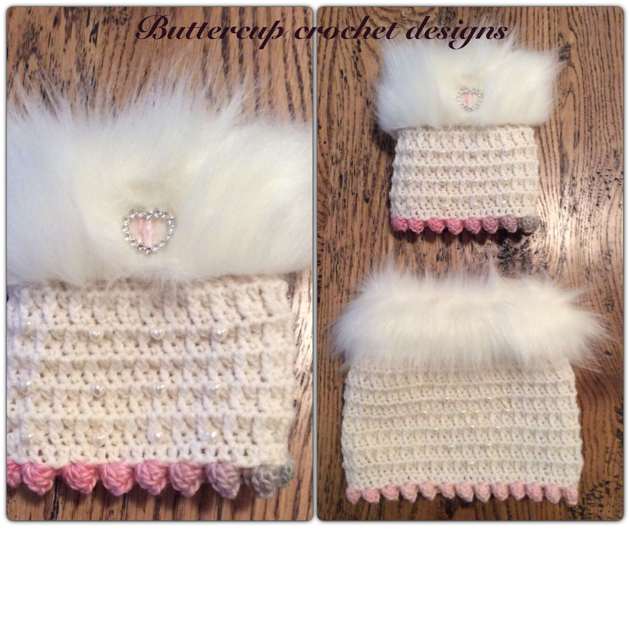 Made by Buttercup Crochet Designs Snood and skirt made for a pooch