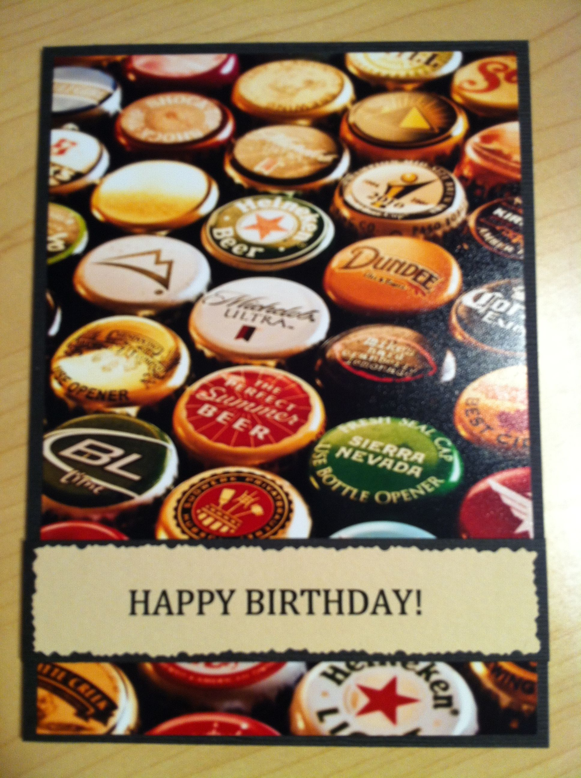 This was a beer themed birthday card but could be used for any – Themed Birthday Cards