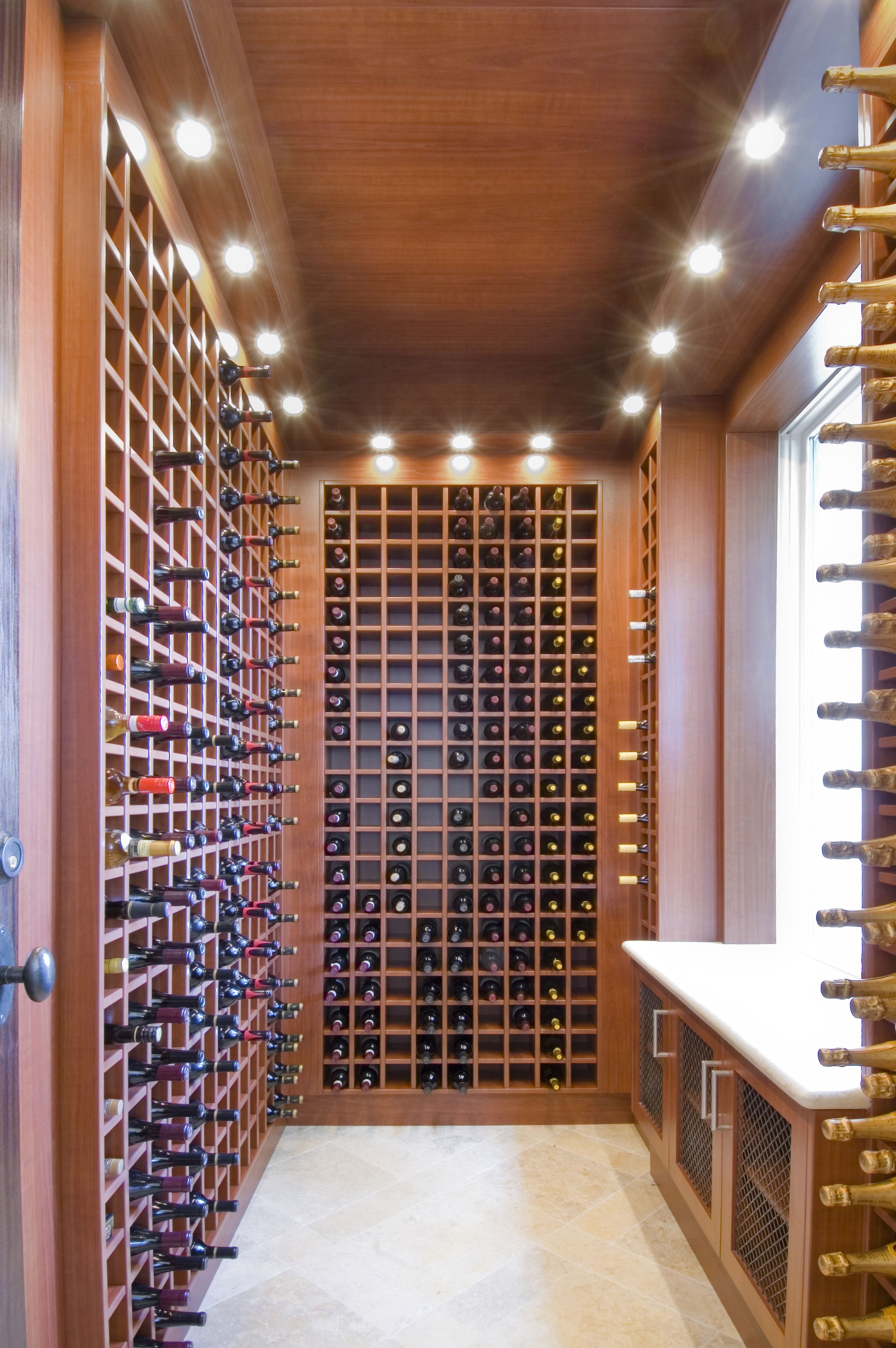 Home For In Fort Lauderdale With Custom Refrigerated Wine Room Racks And Heavy Mahoghany Insulated Gl Door