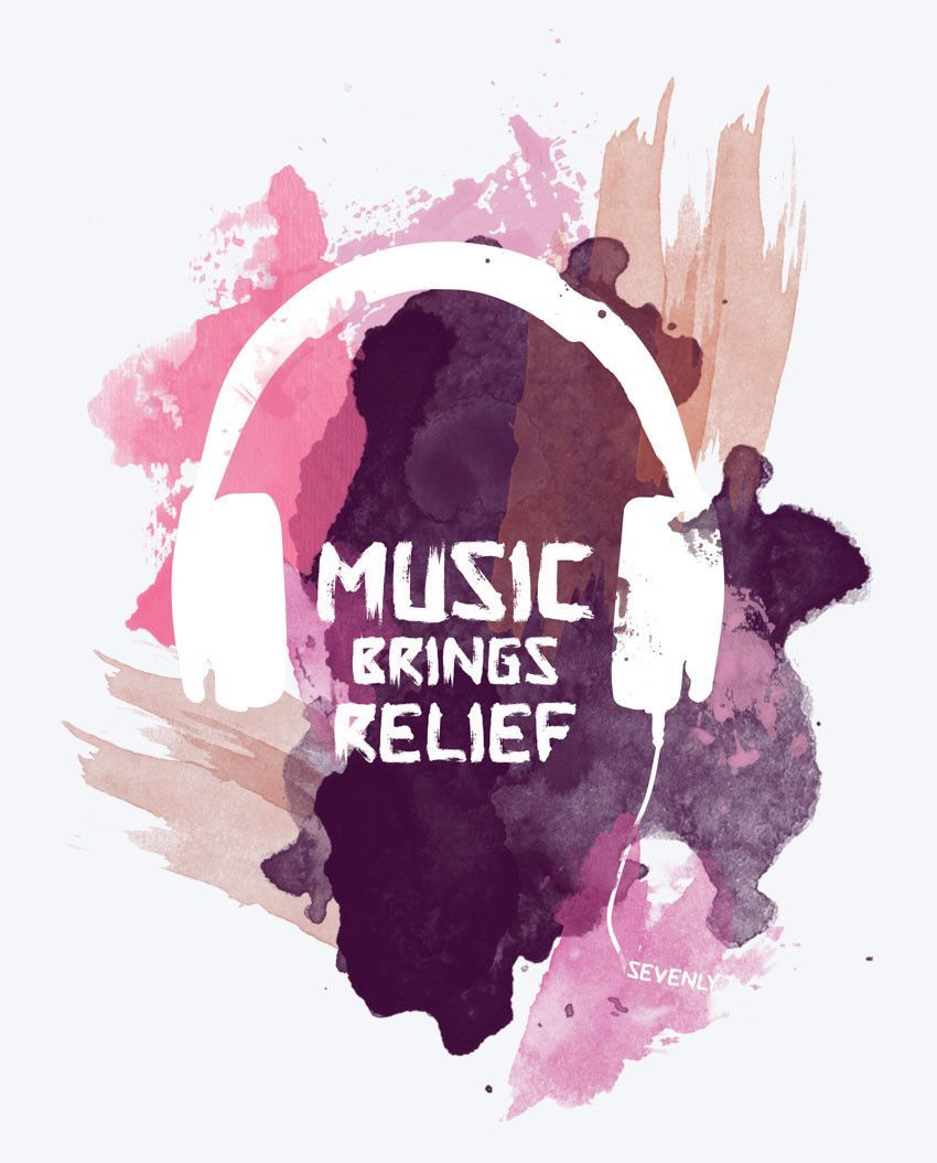 Music Brings Relief Tee Music Art Music Wallpaper Music Quotes