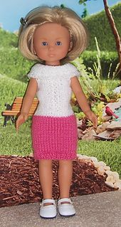 Another darling pattern to knit for 13/14-inch dolls from Janice Helge. This pattern can be found on ravelry.com.