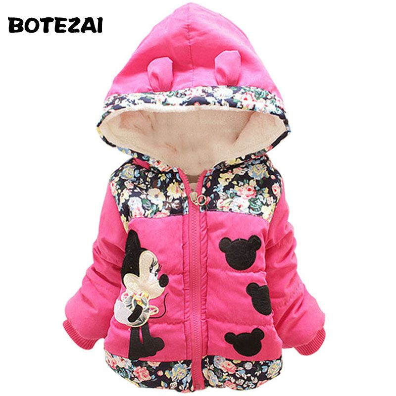 02ec16b13 New 2017 Autumn   Winter Children Minnie Hoodies Jacket   Coat Baby ...