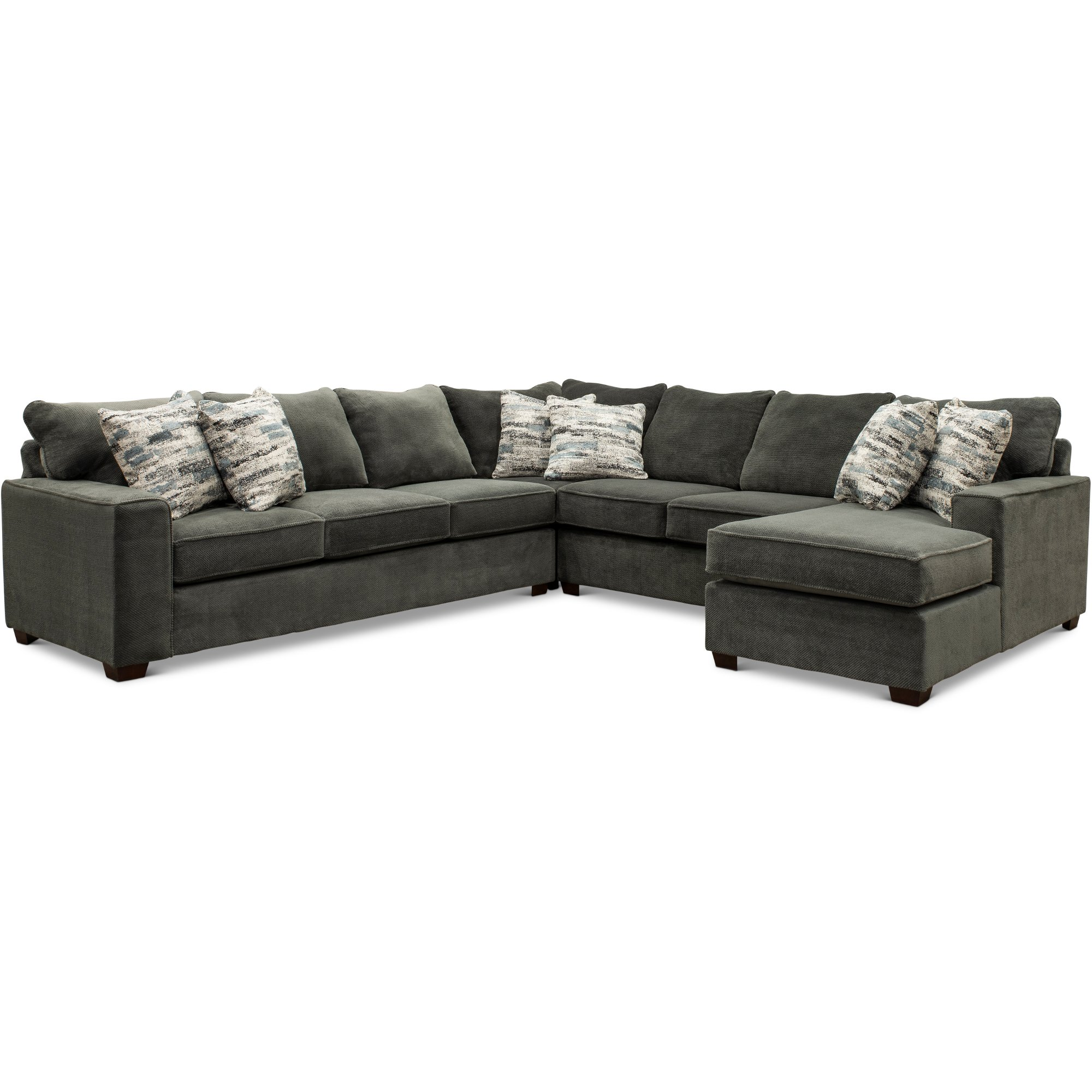 Dark Gray 4 Piece Sectional Sofa With Laf Sofa Autumn In 2020 Sectional Sofa Sofa Furniture