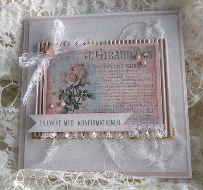 Kort og andet godt: Endnu et konfirmationskort til en pige