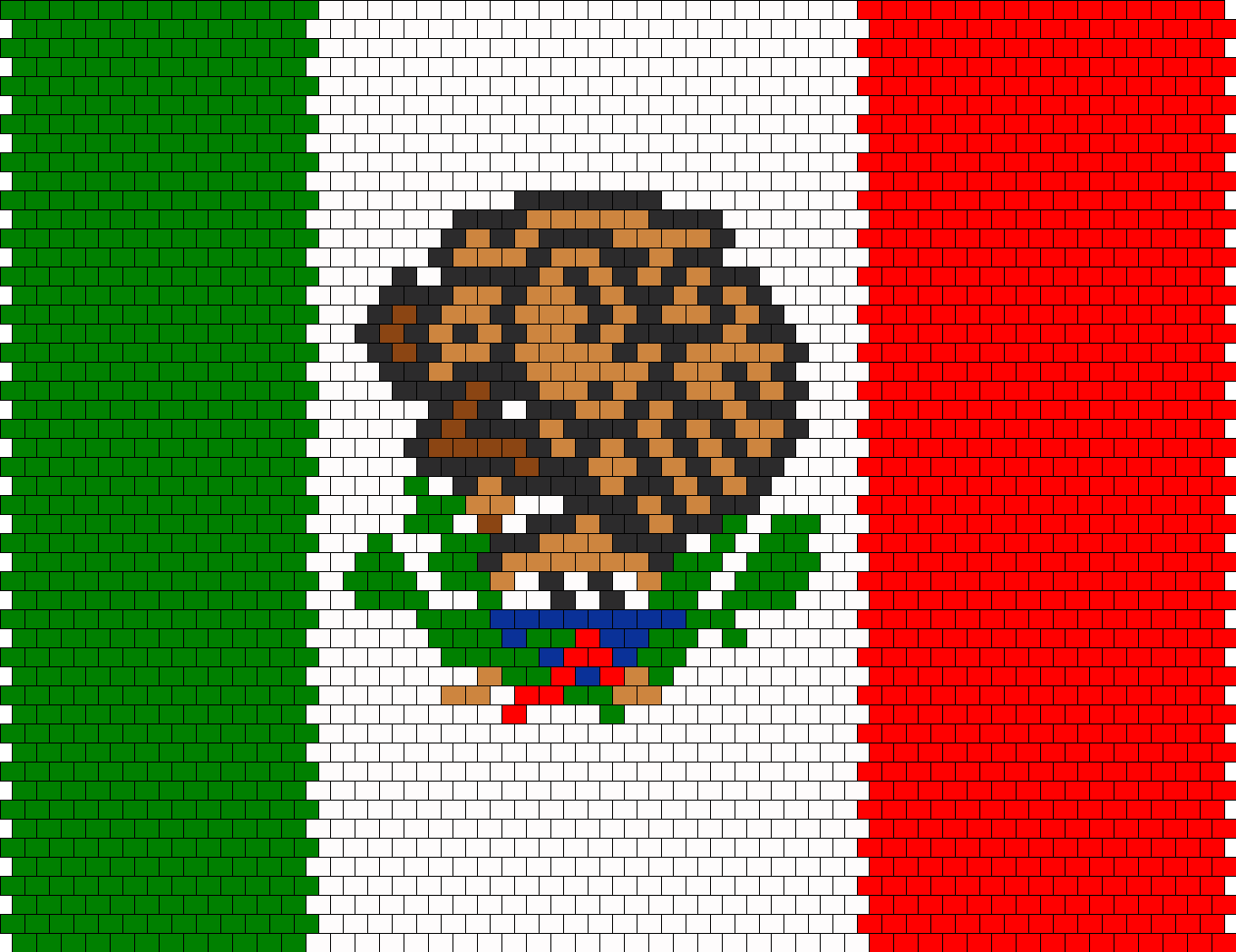 mexican flag bead pattern beading patterns pinterest mexican