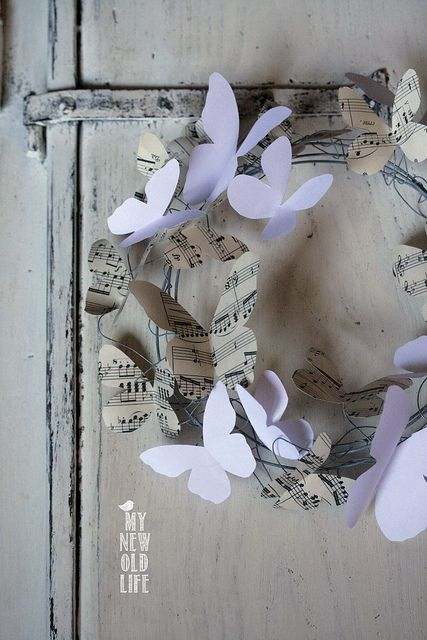 Photo of Double Color: tutorial ghirlanda farfalle di carta