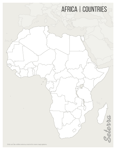 Blank printable Africa countries map (pdf) | Movies online | Map ...