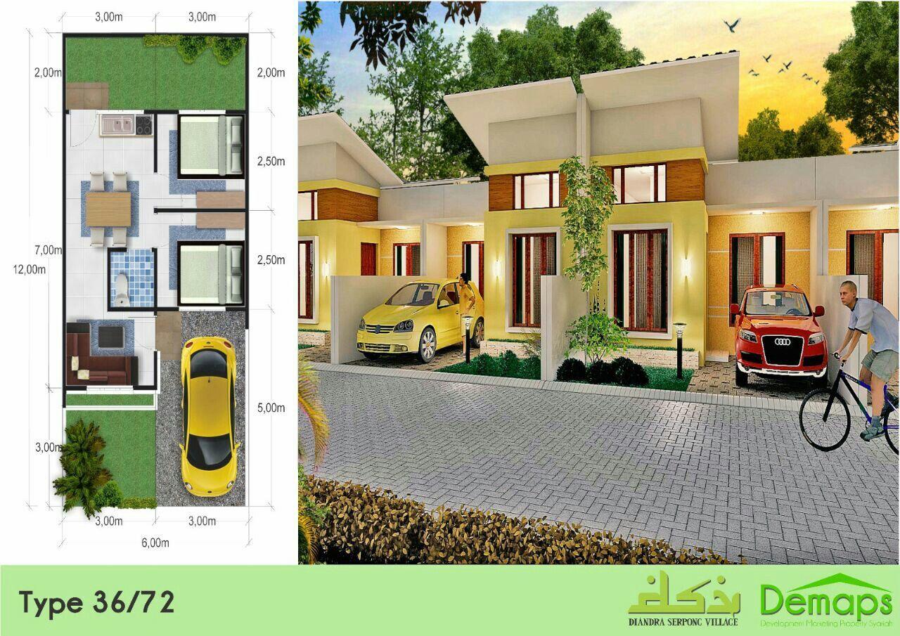 Rumah Design Type 36/72 Diandra Serpong Village Perumahan ...