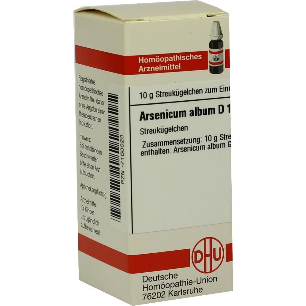 ARSENICUM ALBUM D 15 Globuli:   Packungsinhalt: 10 g Globuli PZN: 07160020 Hersteller: DHU-Arzneimittel GmbH & Co. KG Preis: 5,50 EUR…