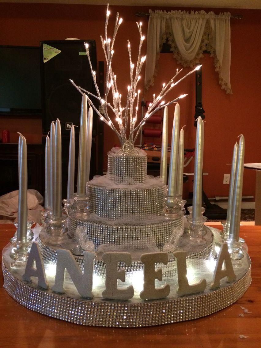 Sweet 16 candelabra #sweet16centerpieces Sweet 16 candelabra #sweet16cakes