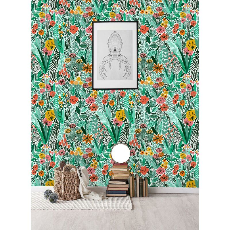 Tropical Mix Paintable Wall Mural In 2021 Wall Wallpaper Wallpaper Removable Wallpaper