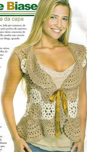 Patrones Crochet: Top con Volantes Patron | Tejidos | Pinterest ...