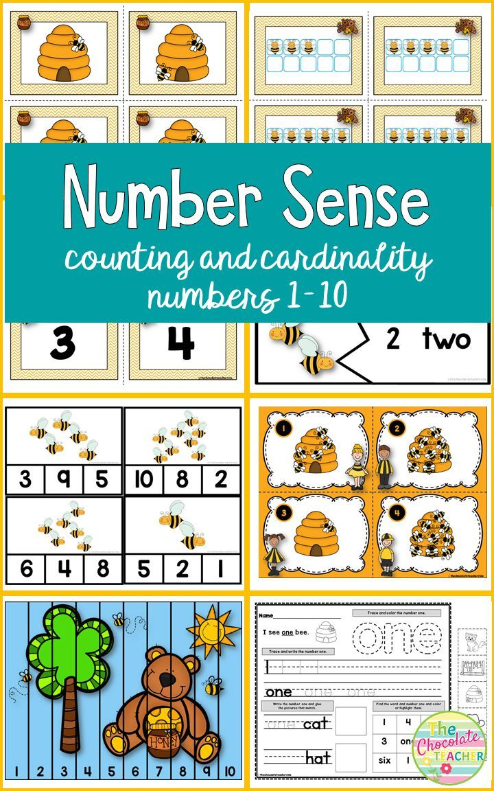 Number Sense to 10 Counting and Cardinality CCSS | Pinterest