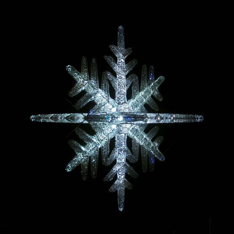 Make a Crystal Snowflake Ornament That Glows in the Dark