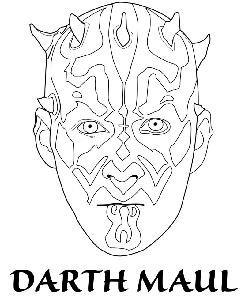 Darth Maul Coloring Pages Best Coloring Pages For Kids Darth Maul Star Wars Colors Coloring Pages