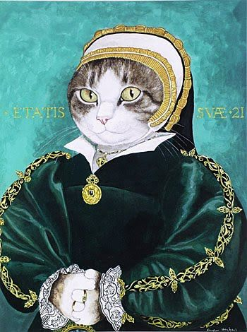 gattoPORTRAIT+OF+A+LADY,+POSSIBLY+CATHERINE+HOWARD+(HOLBEIN.jpg (350×470)