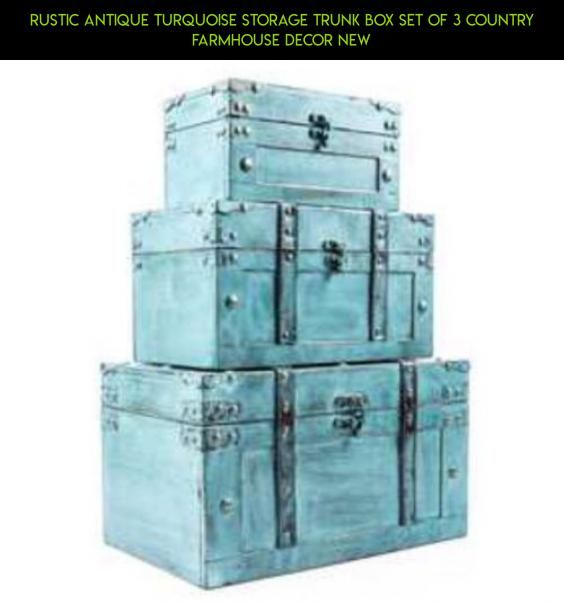 Rustic Antique Turquoise Storage Trunk Box Set of 3 Country Farmhouse Decor New #products #gadgets #fpv #drone #camera #parts #tech #plans #technology #kit #trunk #racing #shopping #storage