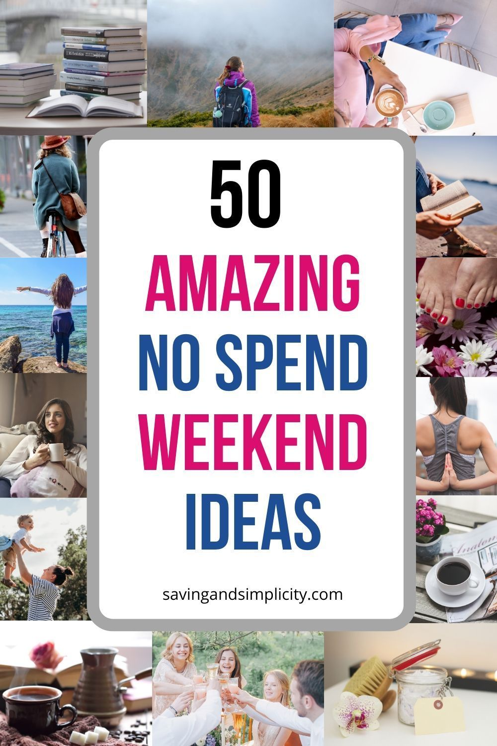 50 things to do on a no spend weekend saving money