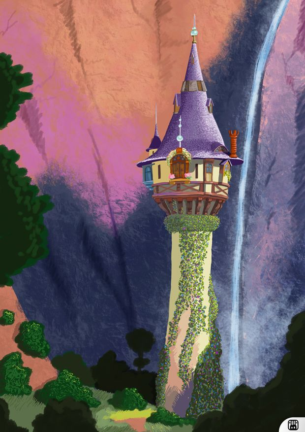 Rapunzel 39 s tower by blackramu on deviantart dreams and disney rapunzel rapunzel drawing - Tangled tower wallpaper ...