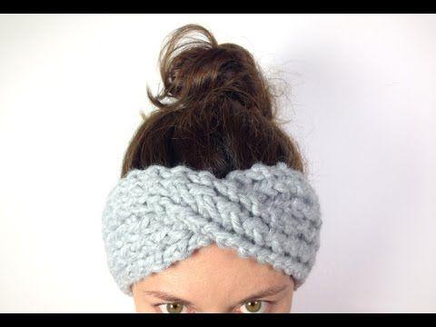 Cómo tejer una cinta turbante / diadema de lana en telar (Tutorial ...