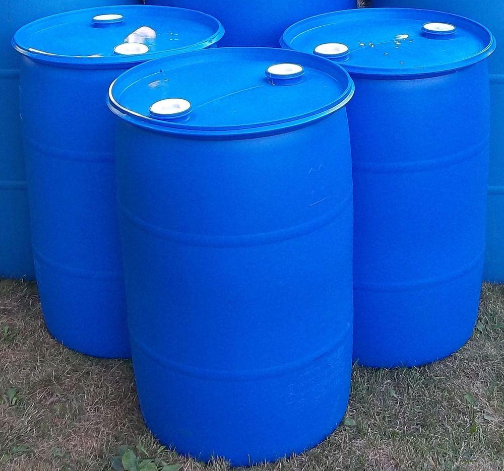55 gallon -- I SHIP-rain-FOOD GRADE plastic drum,BARREL, ohio ...