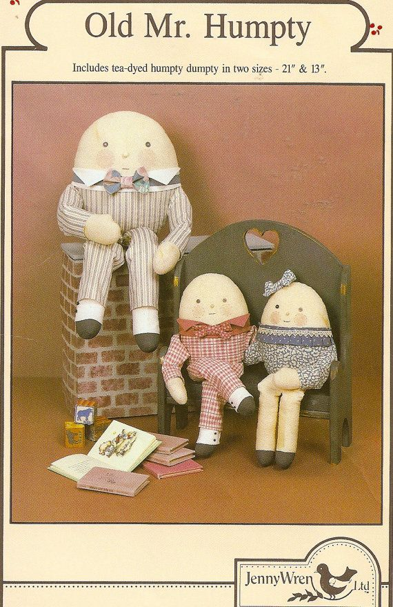 Humpty Dumpty Doll Craft Sewing Pattern Mr and by PatternPriority ...