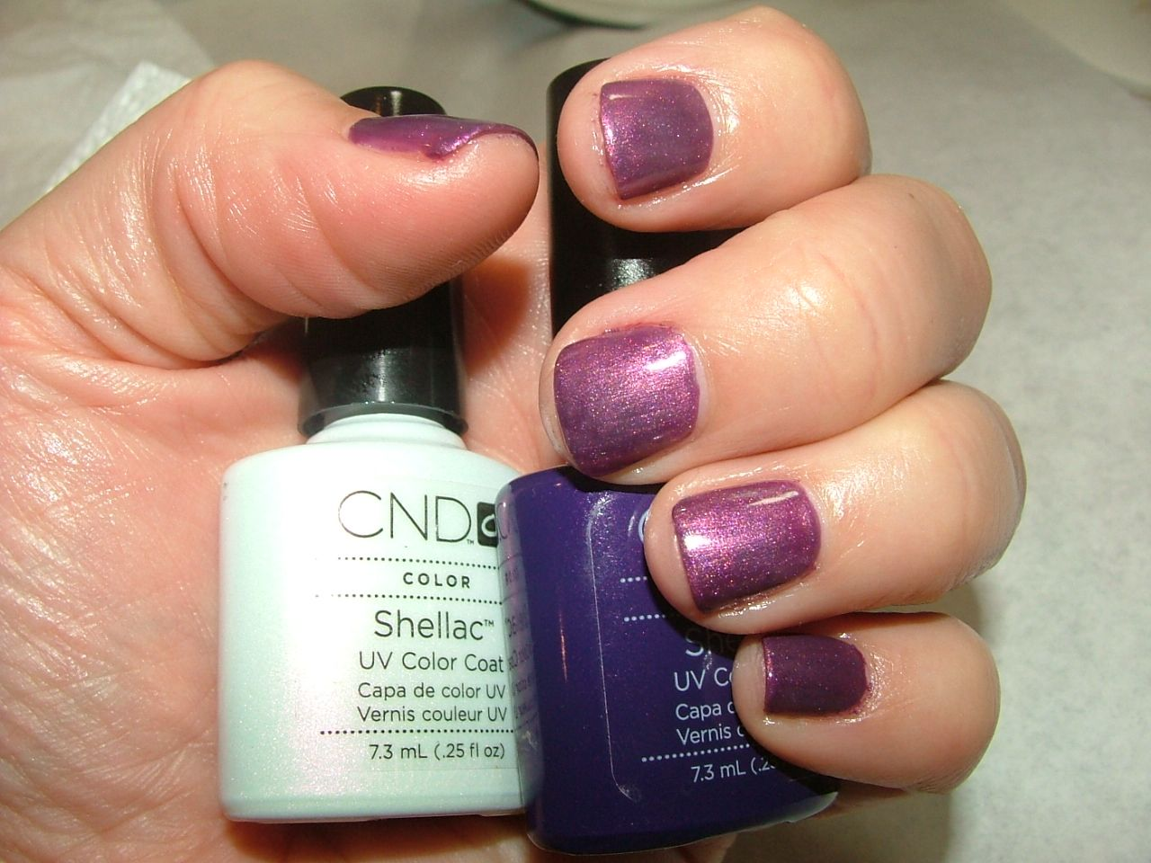 CND Shellac Layering - Moonlight and Roses over Rock Royalty ...