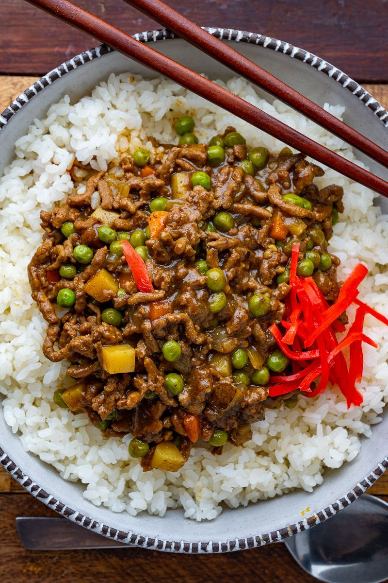 Japanese Dry Curry Recipe In 2020 Dry Curry Recipe Curry Ground Beef How To Cook Beef