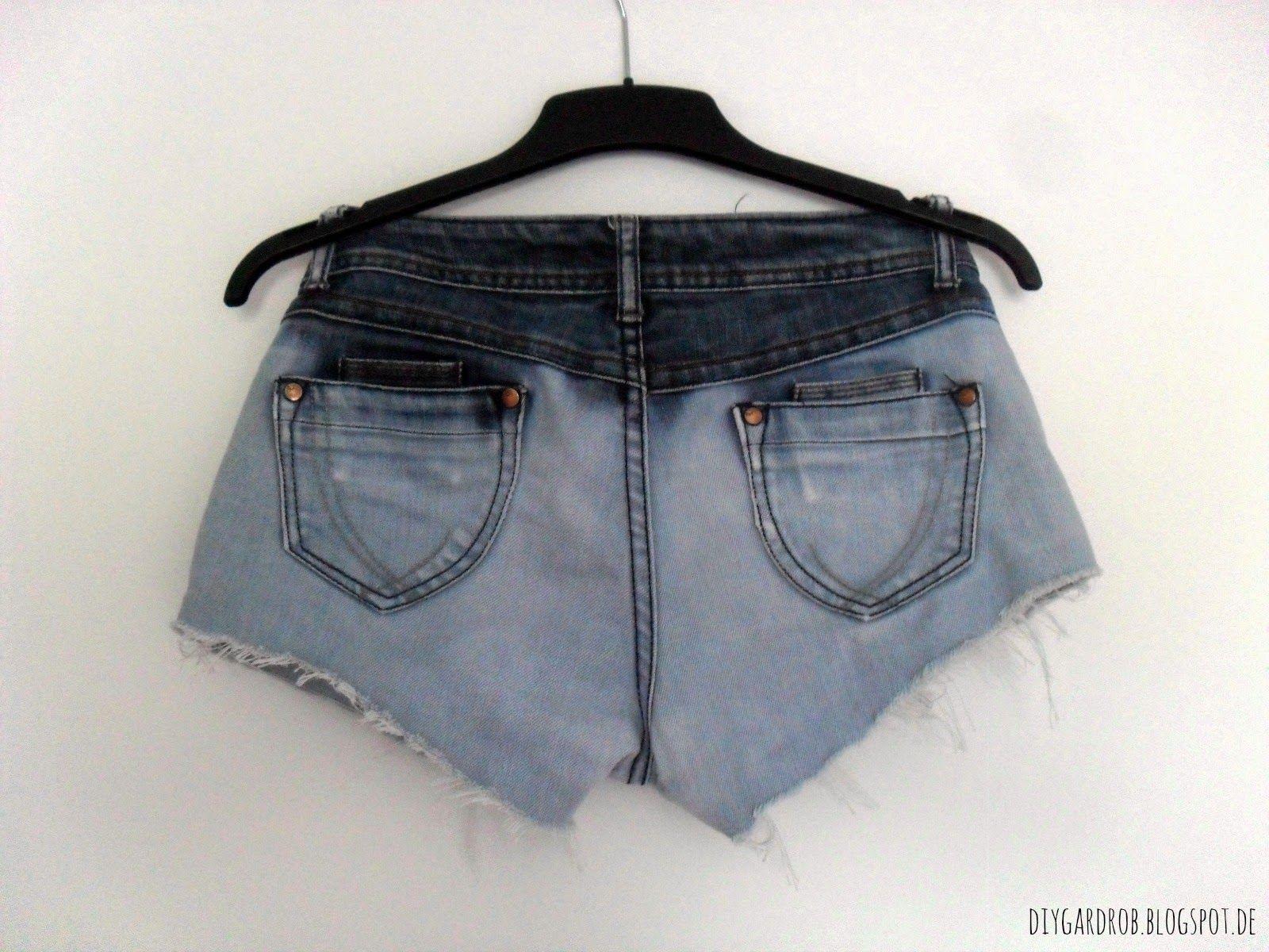 DIY bleach dipped shorts